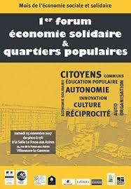 1ER FORUM ÉCONOMIE SOLIDAIRE & QUARTIERS POPULAIRES